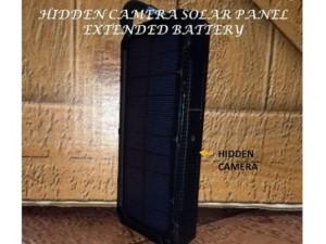 Hidden camera solar panel extended battery Image