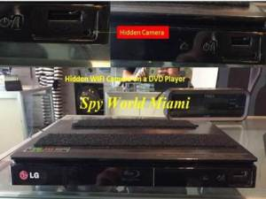 DVD Player Hidden Camera Image