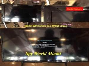 TV Flat Screen Hidden Camera Image