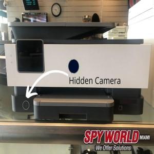 Printer with Hidden Camera